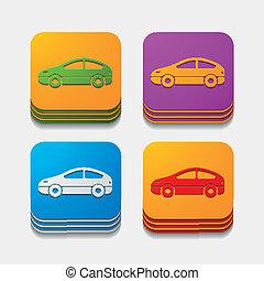 square button: car