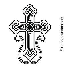 Traditional Armenian Apostolic Church cross clip art. Vector...