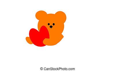teddy - the teddy and heart