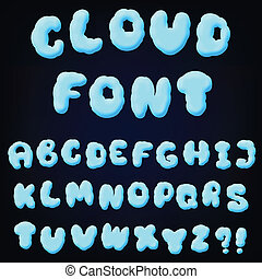 cloud alphabet for design - vector illustration of cloud...
