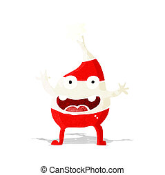 cartoon funny christmas creature