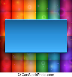 Blue banner on abstract background