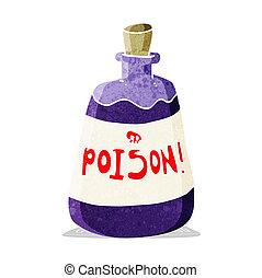 cartoon bottle of poison