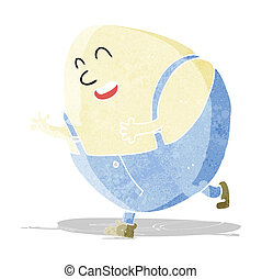 cartoon humpty dumpty egg character