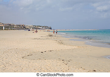 Beach in Jandia Playa, Fuerteventura, Canary Islands Spain