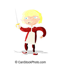 cartoon musketeer