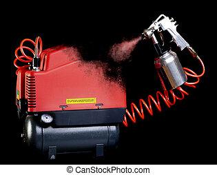 Compressor self-spray - Self-replicating compressor drawing...