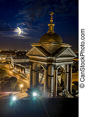 View from the Colonnade of St Isaacs Cathedral in St...