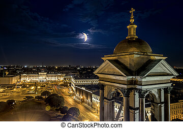 View from the Colonnade of St Isaac's Cathedral in St....