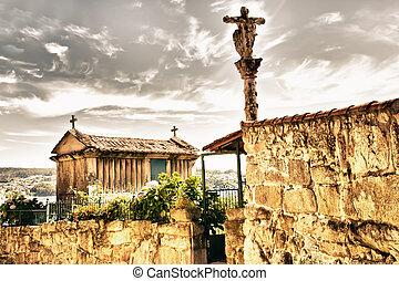 Combarro in Galicia, Spain
