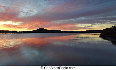 Koolewong sunrise, Australia - Beautiful sunrise from...