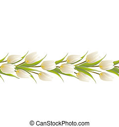 Tulip spring flowers bouquet for your card illustration