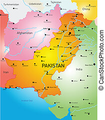 Pakistan - Vector color map of Pakistan country