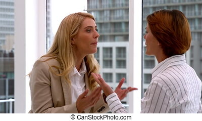Businesswomen having an argument - Angry businesswomen...