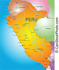 Peru country - Vector color map of Peru country