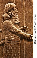 Assyrian man - stone carving