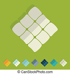 Ketupat Vector Clipart Illustrations. 166 Ketupat clip art vector ...