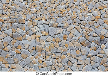 Pattern of old stone Wall Surfaced