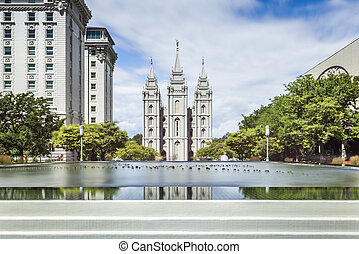The Church of Jesus Christ of Latter-day Saints Temple, Salt...