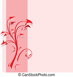 abstract branch with arrows - vector