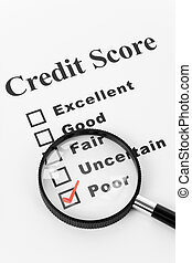 Poor Credit Score, Business Concept for Background