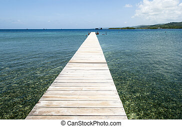 Wooden Pier - The long wooden pier for tourists to swim on...