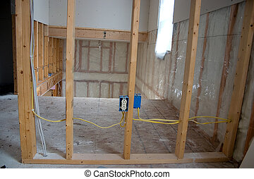 New Home Construction - the interior of a house under...