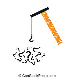 Question hoist - Illustration of a yellow hoist collecting...