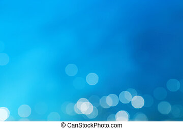 Blue blur abstract background with bokeh