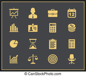 Business and financial icon set