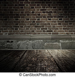 Vintage brickwall, background - Vintage brickwall, textured...