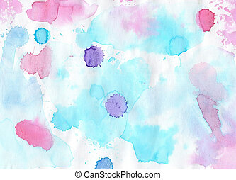 Handmade colorful  aguarelle  background for scrapbooking and ot
