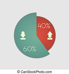 pie chart - Pie chart graphic. Use for business design,...