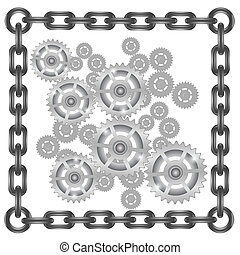 gears in chain frame