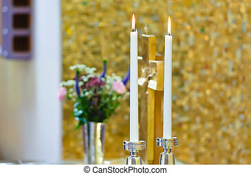 Two wedding candle