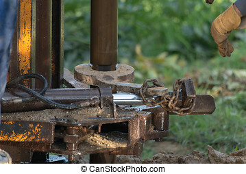 water well  - Details of the construction of a water well