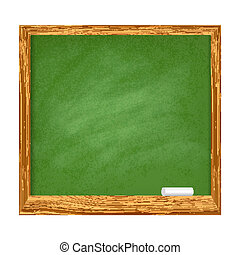School board - Illustration of Green school board with...
