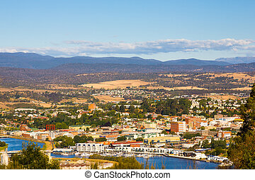 Launceston Tasmania Australia - Overlooking Launceston on...