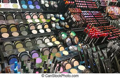 Laden, Groß, Produkte, kosmetikartikel, vielfalt