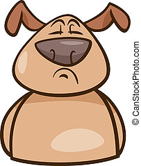 mood proud dog cartoon illustration - Cartoon Illustration...