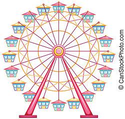 A ferris wheel ride - lllustration of a ferris wheel ride on...