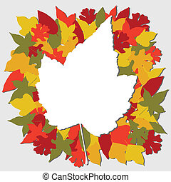 Fall leaves illustration