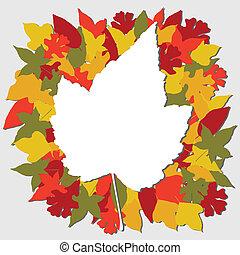 Fall leaves illustration