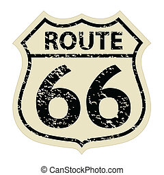 Vintage route 66 sign illustration - Vintage route 66 sign...