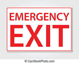 Emergency exit sign vector illustration