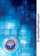 technology compass illustration design