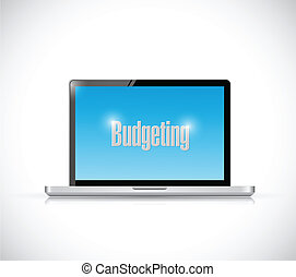computer budgeting illustration design