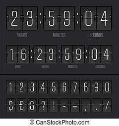 Vector illustration of countdown timer