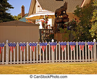 4th Of July Decorated Fence