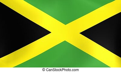 Jamaican Flag Loop - The flag of the Caribbean nation of...